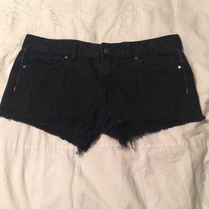 PINK black jean shorts
